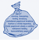 Svoz modrých pytlů s papírem  1